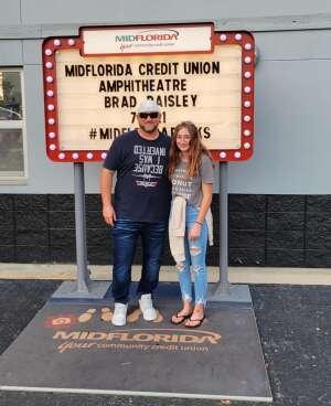 Scott R. attended Brad Paisley Tour 2021 on Jul 9th 2021 via VetTix