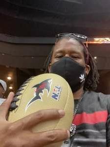Anthony   DJ Trust Smith attended Jacksonville Sharks vs. Carolina Cobras - National Arena League - Military Appreciation Game on Jul 24th 2021 via VetTix