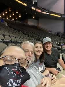 Partin attended Jacksonville Sharks vs. Carolina Cobras - National Arena League - Military Appreciation Game on Jul 24th 2021 via VetTix