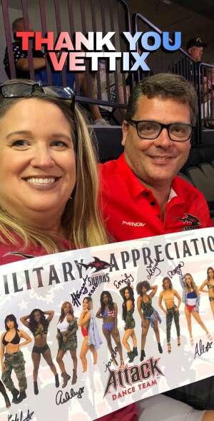 Matthew attended Jacksonville Sharks vs. Carolina Cobras - National Arena League - Military Appreciation Game on Jul 24th 2021 via VetTix