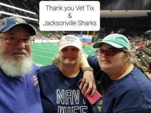 AZ2 (Ret) Stearns attended Jacksonville Sharks vs. Carolina Cobras - National Arena League - Military Appreciation Game on Jul 24th 2021 via VetTix