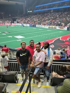 Kaleen Braham  attended Jacksonville Sharks vs. Carolina Cobras - National Arena League - Military Appreciation Game on Jul 24th 2021 via VetTix