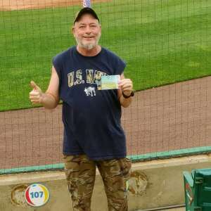 Charlie attended Jersey Shore Blueclaws vs. Wilmington Blue Rocks - MiLB ** Military Appreciation Night ** on Jul 8th 2021 via VetTix