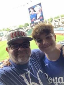 Jeff Bodinson attended Kansas City Royals vs. Cincinnati Reds - MLB on Jul 7th 2021 via VetTix