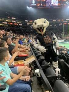 Uribe Family  attended Arizona Rattlers vs. Naz Wranglers on Jul 10th 2021 via VetTix