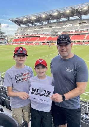 Mike attended Washington Spirit vs. NC Courage - NWSL on Jul 10th 2021 via VetTix