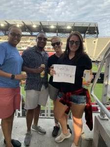 Becky attended Washington Spirit vs. NC Courage - NWSL on Jul 10th 2021 via VetTix