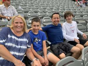 Darquea family  attended Chicago Dogs vs. Houston Apollos - Fireworks and Jimmy Buffet Theme Night! MLB Partner League on Jul 17th 2021 via VetTix