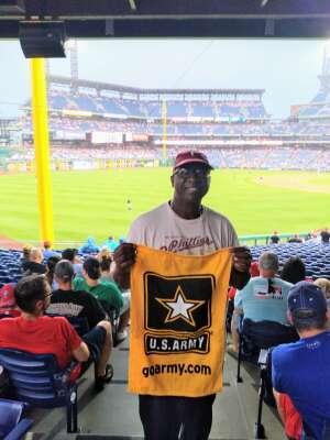 SPC McCALL attended Philadelphia Phillies vs. Miami Marlins - MLB on Jul 17th 2021 via VetTix