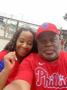 Vaughn attended Philadelphia Phillies vs. Miami Marlins - MLB on Jul 17th 2021 via VetTix