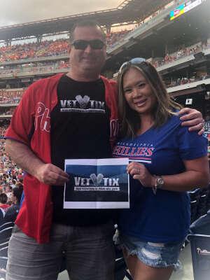 Chris S attended Philadelphia Phillies vs. Atlanta Braves - MLB on Jul 23rd 2021 via VetTix