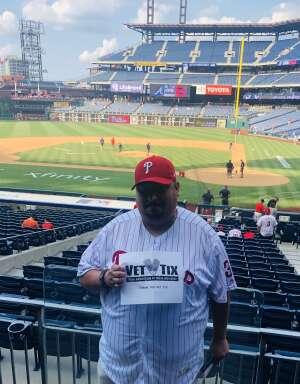 Fernando attended Philadelphia Phillies vs. Atlanta Braves - MLB on Jul 23rd 2021 via VetTix