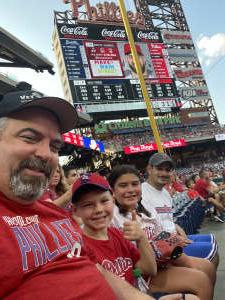 Patrick Marioni attended Philadelphia Phillies vs. Atlanta Braves - MLB on Jul 23rd 2021 via VetTix