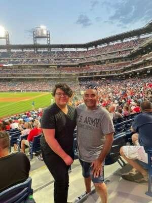SGT, (Ret) Víctor G. Alcalde attended Philadelphia Phillies vs. Atlanta Braves - MLB on Jul 23rd 2021 via VetTix
