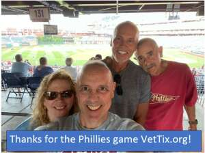 The Maldonado/Cruz Family attended Philadelphia Phillies vs. Atlanta Braves - MLB on Jul 23rd 2021 via VetTix