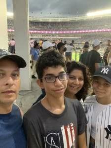 Ruben attended New York Yankees vs. Boston Red Sox on Jul 17th 2021 via VetTix