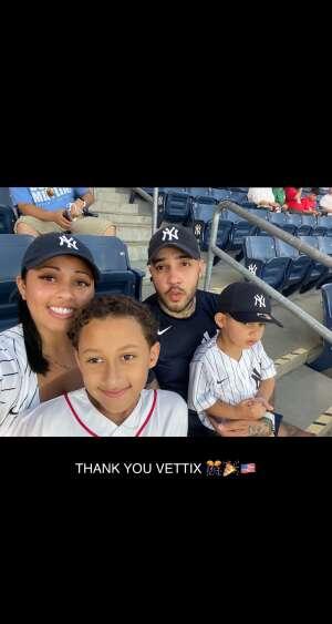 Carmen attended New York Yankees vs. Boston Red Sox on Jul 17th 2021 via VetTix