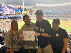 Gary  attended New York Yankees vs. Boston Red Sox on Jul 17th 2021 via VetTix