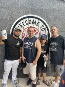 Guillermo Martillo  Diaz attended New York Yankees vs. Boston Red Sox on Jul 17th 2021 via VetTix