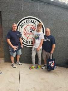 Kevin  attended New York Yankees vs. Philadelphia Phillies - MLB on Jul 20th 2021 via VetTix
