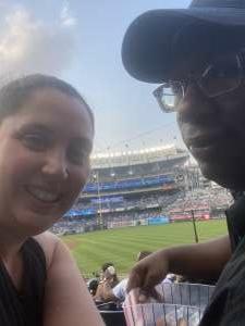 Amanda attended New York Yankees vs. Philadelphia Phillies - MLB on Jul 21st 2021 via VetTix