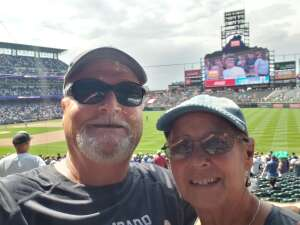 Gary and Lucy attended Colorado Rockies vs. Seattle Mariners on Jul 21st 2021 via VetTix