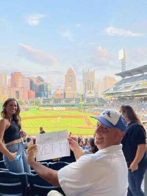 Johnny Baseball attended Pittsburgh Pirates vs. Milwaukee Brewers - MLB on Jul 28th 2021 via VetTix