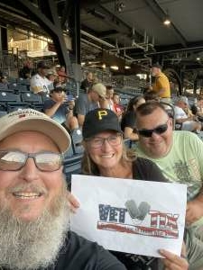 Bob Conner attended Pittsburgh Pirates vs. Milwaukee Brewers - MLB on Jul 28th 2021 via VetTix