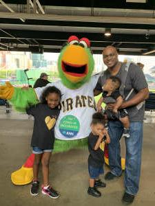 John  attended Pittsburgh Pirates vs. Milwaukee Brewers - MLB on Jul 27th 2021 via VetTix