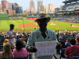 Jerry  attended Pittsburgh Pirates vs. Milwaukee Brewers - MLB on Jul 27th 2021 via VetTix