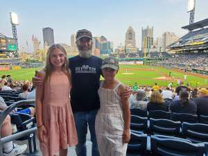 Justin  attended Pittsburgh Pirates vs. Milwaukee Brewers - MLB on Jul 27th 2021 via VetTix