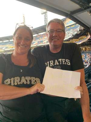 Francis Kemick attended Pittsburgh Pirates vs. Milwaukee Brewers - MLB on Jul 27th 2021 via VetTix