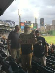 Kerry and the Pirates attended Pittsburgh Pirates vs. Milwaukee Brewers - MLB on Jul 29th 2021 via VetTix
