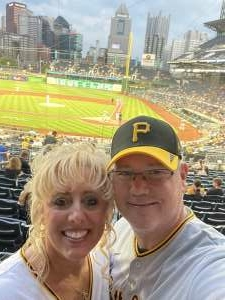 Jay Cottrell  attended Pittsburgh Pirates vs. Milwaukee Brewers - MLB on Jul 29th 2021 via VetTix