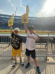 Carly Marr attended Pittsburgh Pirates vs. Milwaukee Brewers - MLB on Jul 29th 2021 via VetTix