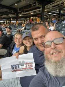 Bob Conner attended Pittsburgh Pirates vs. Milwaukee Brewers - MLB on Jul 29th 2021 via VetTix