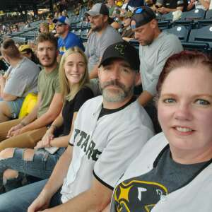 Alexander Family  attended Pittsburgh Pirates vs. Milwaukee Brewers - MLB on Jul 29th 2021 via VetTix