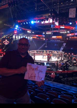 Danny Stringer attended Bellator MMA 262: Velasquez vs. Kielholtz on Jul 16th 2021 via VetTix