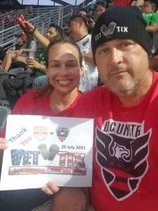 Scott  attended DC United vs. New York Red Bulls - MLS on Jul 25th 2021 via VetTix