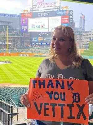 Beth attended Detroit Tigers vs. Texas Rangers - MLB on Jul 20th 2021 via VetTix