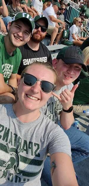 Best Birthday present attended Michigan State Spartans vs. Youngstown State Penguins - NCAA Football on Sep 11th 2021 via VetTix
