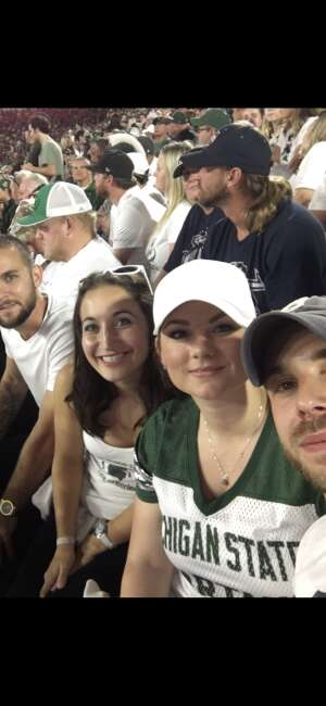 Noel attended Michigan State Spartans vs. Youngstown State Penguins - NCAA Football on Sep 11th 2021 via VetTix