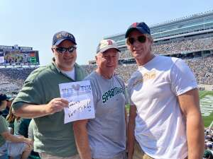 Charles D. attended Michigan State Spartans vs. Youngstown State Penguins - NCAA Football on Sep 11th 2021 via VetTix