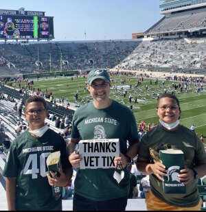 Brad L attended Michigan State Spartans vs. Youngstown State Penguins - NCAA Football on Sep 11th 2021 via VetTix
