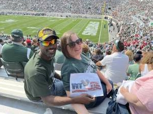 Joseph King attended Michigan State Spartans vs. Youngstown State Penguins - NCAA Football on Sep 11th 2021 via VetTix