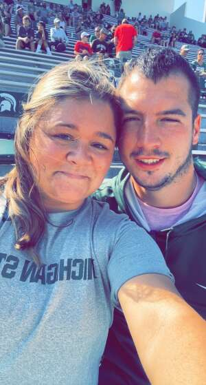 Jacob  attended Michigan State Spartans vs. Youngstown State Penguins - NCAA Football on Sep 11th 2021 via VetTix