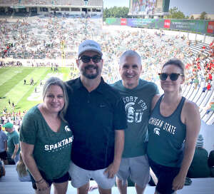 Persian Gulf War Vet attended Michigan State Spartans vs. Youngstown State Penguins - NCAA Football on Sep 11th 2021 via VetTix