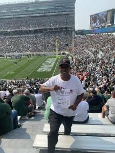 L Hud attended Michigan State Spartans vs. Youngstown State Penguins - NCAA Football on Sep 11th 2021 via VetTix