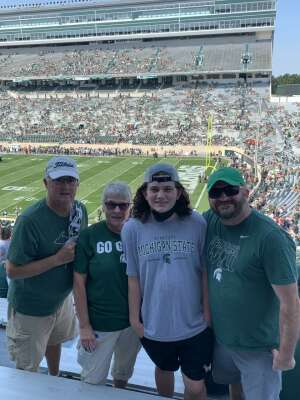 CPT Pearson attended Michigan State Spartans vs. Youngstown State Penguins - NCAA Football on Sep 11th 2021 via VetTix