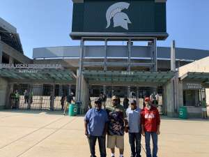 Tom Hamilton  attended Michigan State Spartans vs. Youngstown State Penguins - NCAA Football on Sep 11th 2021 via VetTix